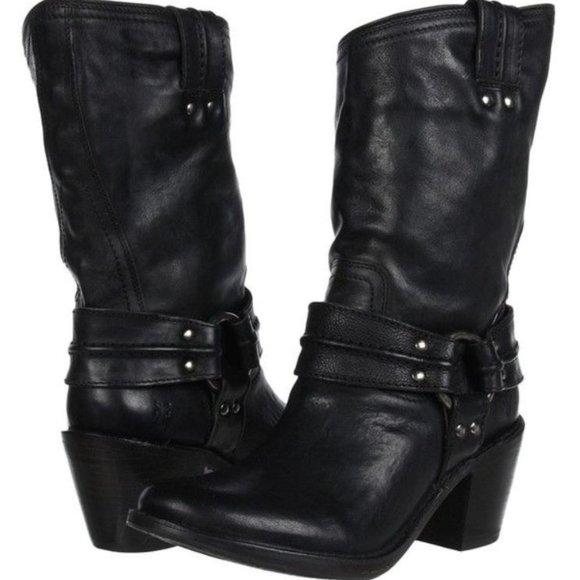 FRYE - 'Carmen' Harness Short Boot